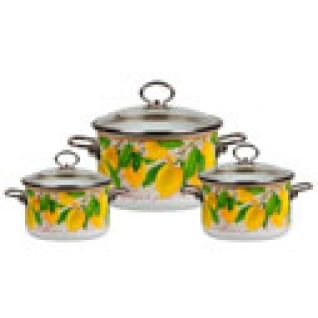Набор эмалированный 3 предмета №05 Limon-37650773