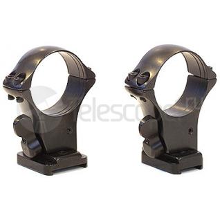 Кольца быстросъемные Mak на раздельных основаниях на Browning Bar II/Benelli Argo, 30 мм, (5252-30003)-28911651