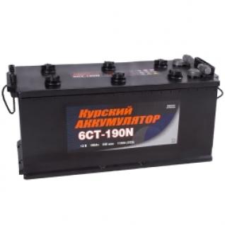 Автомобильный аккумулятор Курский Аккумулятор Курский 190 под болт 1150А прямая полярность 190 А/ч (516x223x223)