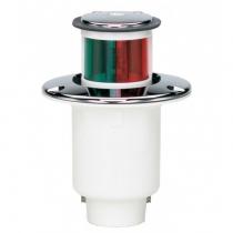 Огонь комбинированный Hella marine врезной красный и зеленый, хром. пластик (2LT 995 006-041)
