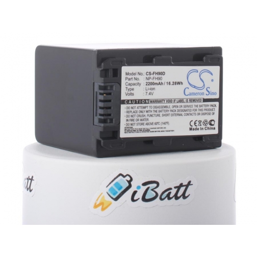 Аккумуляторная батарея iBatt для фотокамеры Sony HDR-CX6EK. Артикул iB-F285 iBatt-6803925
