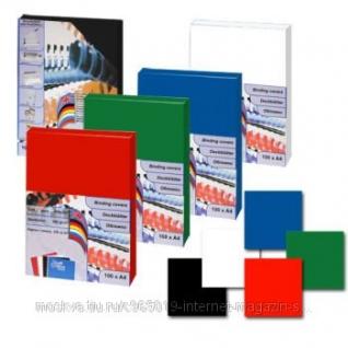 Обложки картон-глянец ProfiOffice, А4, черный