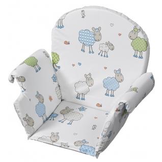 Вставка для стула Geuther Мягкая универсальная вставка для стульчиков Geuther белая с овечками (цвет 35)-1962649