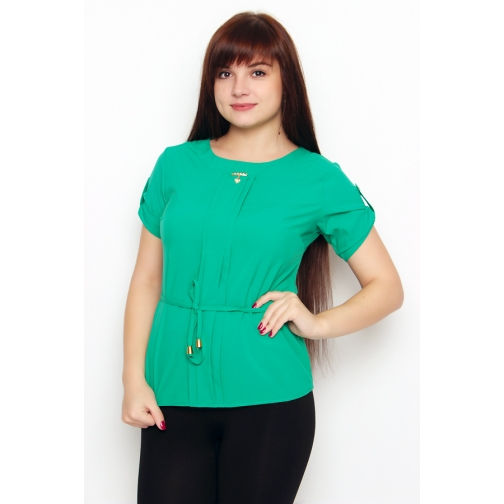 Блуза с коротким рукавом 44 размер-6686993