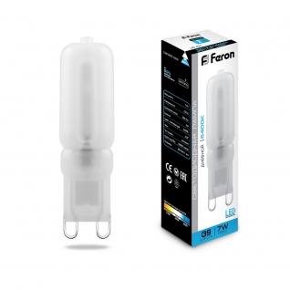 Светодиодная лампа Feron LB-431 (7W) 230V G9 6400K-8164474
