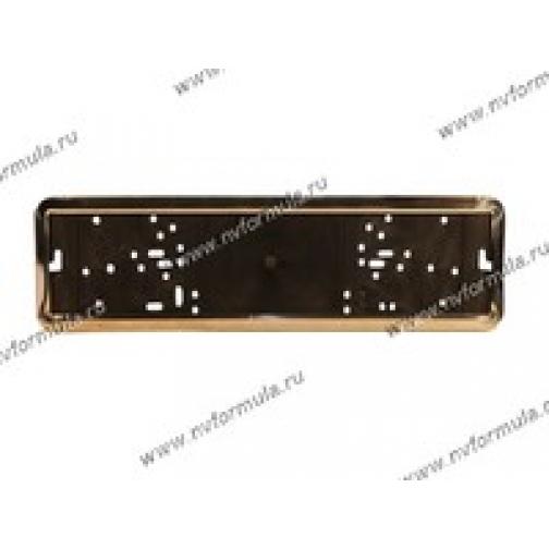 Рамка номерного знака нержавейка Comfort-430495