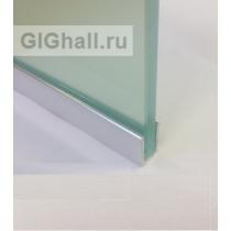 П-образный алюминиевый профиль для стекла 8 мм, полированный