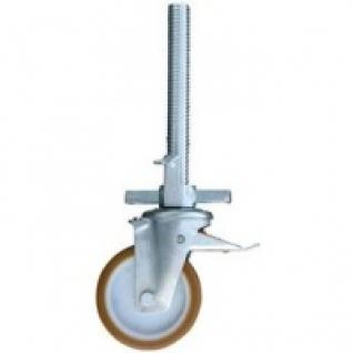 Ролик для подмостей 200 мм, с резиновой накладкой-447241