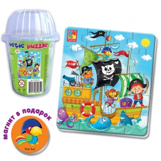 """Мягкий магнитный пазл """"Пираты"""", 20 элементов Vladi Toys-37725658"""