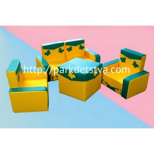 Мягкая набивная мебель Антошка со столом-6830465