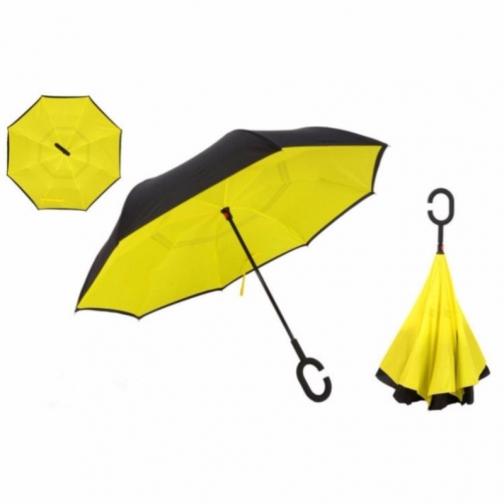Зонт-наоборот солнечного цвета-6893854