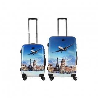 Alezar Комплект пластиковых чемоданов 2в1 Alezar - Tourist (M+S)
