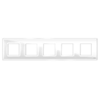 """Пятипостовая рамка стеклянная белая """"эстетика"""" gl-p105-wc"""