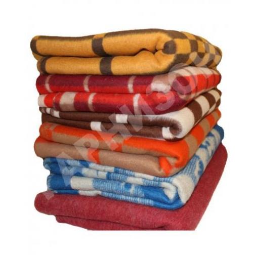 Одеяло полушерстяное цветное