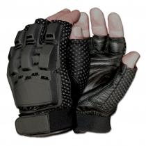 Made in Germany Перчатки пейнтбольные Gotcha с защитой полпальца черного цвета