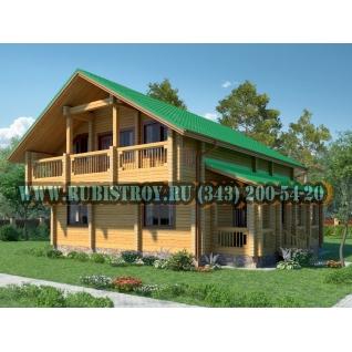 """Проект """"ПРИОБСКИЙ"""" из профилированного бруса 145 х 190 мм, размер 12 х 11, площадь дома 192 кв.м."""