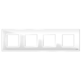 """Четырехпостовая рамка стеклянная белая """"эстетика"""" gl-p104-wc"""