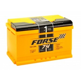 Автомобильный аккумулятор FORSE FORSE 74R 720А обратная полярность 74 А/ч (278x175x175)-5789003