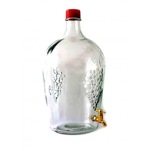 """Бутыль коллекционная с краном объёмом 4,5 литра """"РОМЕО""""-9224611"""