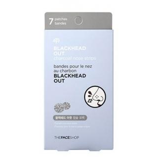 THE FACE SHOP - Полоски очищающие для носа Blackhead Out Charcoal Nose Strips на основе черного угля-2146561
