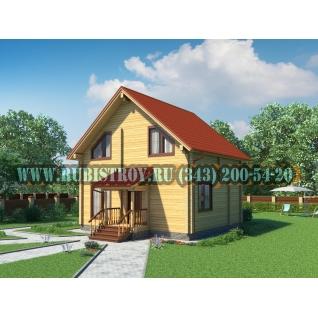 """Проект """"ПЕРЕСВЕТ"""" из профилированного бруса 145 х 190 мм, размер 8,5 х 8, площадь дома 100 кв.м."""
