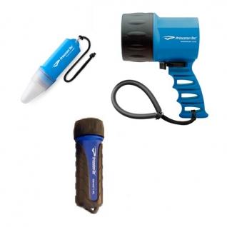 Набор из 3-х фонарей для дайвинга Princeton Tec Island Pack Blue (MP-BL)