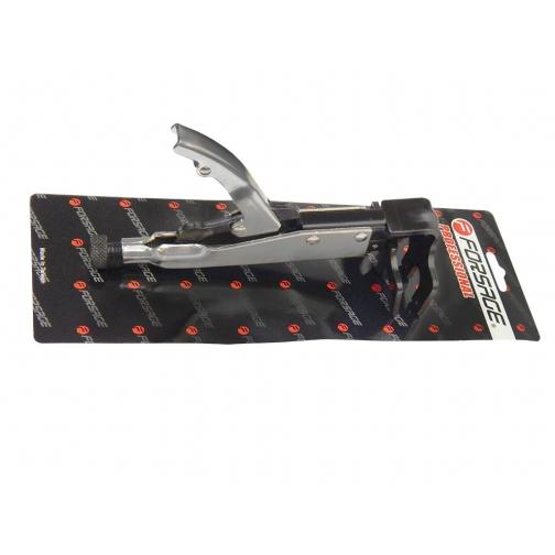 Зажим с фиксатором для кузовных работ (плоские широкие губки-для точечной сварки) Forsage-6006937