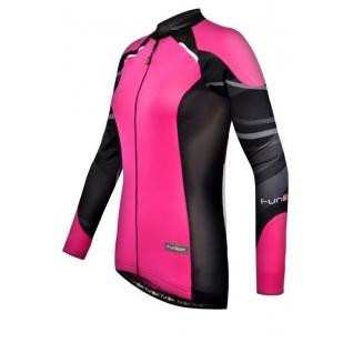Велофутболка 15-098 женская WJ-730-1-L Pink с длин. рукавом розово-черная L FunkierBike-1999406