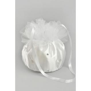 Сумочка для невесты №14, белый (Помпадур, фатин, стразы)-387351