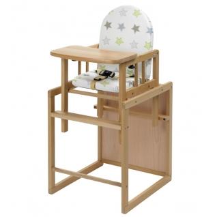 Стул Geuther Высокий стул-трансформер Geuther Nico натуральный/со звездами-1962643