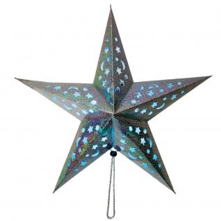Световая фигура Feron LT101 Звезда из бумаги, серебряная-8222316