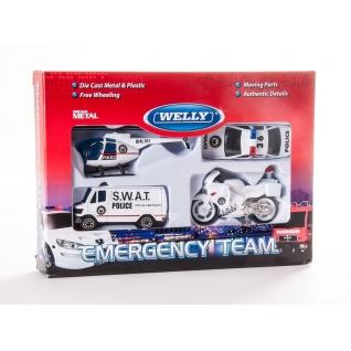 """Набор машин """"Служба спасения"""" - Полиция, 4 предмета Welly-37725934"""
