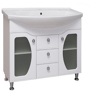 Тумба для ванной Runo Линда Люкс 85 без Раковины (Элеганс 85) Белая