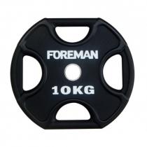 Foreman Диск X-Training уретановый FOREMAN FM/UPX-10KG-BK (10 кг)