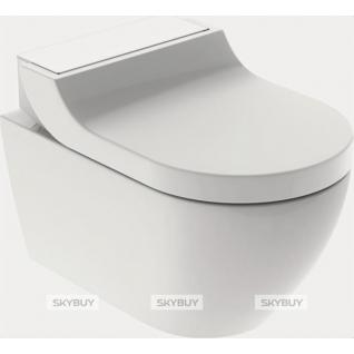 Унитаз подвесной Geberit AquaClean tuma comfort панель белое стекло