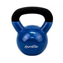SportElit Гиря чугунная обрезиненная SportElite 8 кг