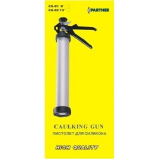 Пистолет для силикона алюминиевый,400гр. Partner-6002972