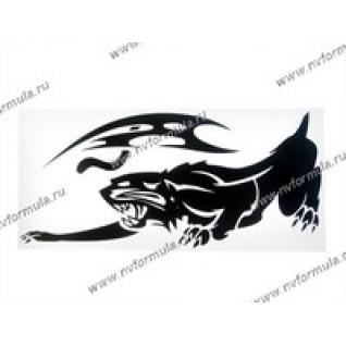 Наклейка Стикер на боковое стекло Пантера черная 41х41-430743