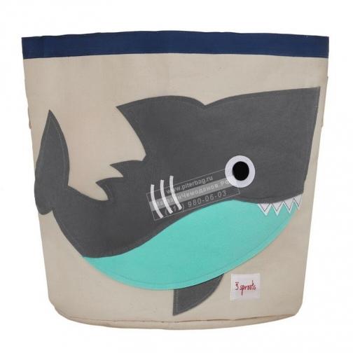 3 Sprouts Корзина для игрушек Серая акула 3 Sprouts-4130290