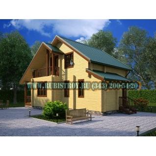 "Проект ""СТАНОВЛЯНКА"" из профилированного бруса 145 х 190 мм, размер 7,5 х 11,4, площадь дома 115 кв.м"