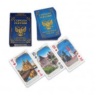 Карты игральные Сувенирные серия Города России 54 шт/колода ИН-2501