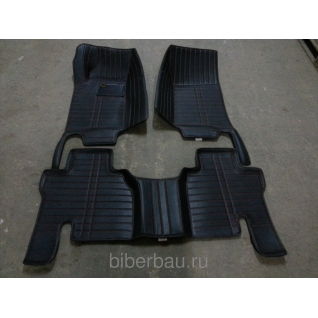 Кожаные автоковрики SsangYong Rexton чёрный 2007-2015-907147