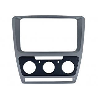 Переходная рамка Intro RSC-8676 M-SL для Skoda Octavia 04-12 Silver (Мех. Печь) Intro-834839