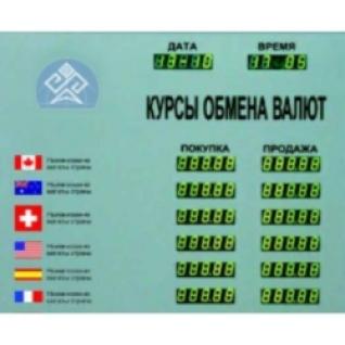 Табло котировок валют CERB-12-448025