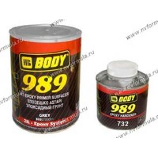 Грунтовка Body 989 1л грунт эпоксидный 4+1 серый-416691