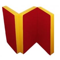 Alex Детский спортивный мат №6 (150 х 100 х 10 см) красно-желтый
