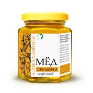 Мед с Женьшенем натуральный ,250 г Эльфарма