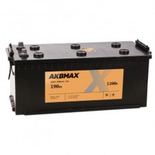 Автомобильный аккумулятор AKBMAX AKBMAX 190 euro 1200А обратная полярность 190 А/ч (516x223x223)-6663928