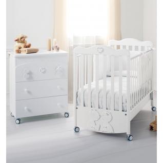 Комплект Baby Expert Комплект Primo Amore (комод+кровать) белый