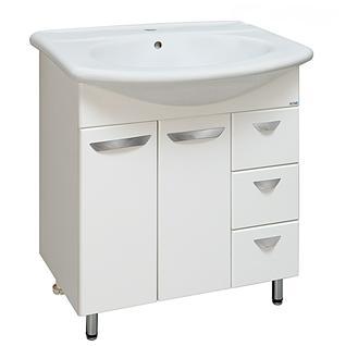 Тумба для ванной Runo Лидия 70 без Раковины (Лидия 70) Белая